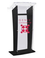 Black Customized Public Speaking Stand