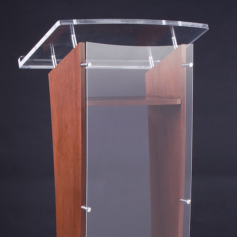 Standoffs not only hold this podium together, but also create interesting accents