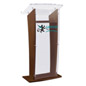 Custom Graphic Acrylic and Wood Podium, Floor Standing
