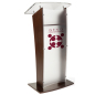 Modern Acrylic and Wood Podium with 1-Color Logo