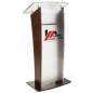 Modern Acrylic and Wood Podium with 2-Color Logo