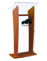 Maple Acrylic Speaking Stand with Custom Printing