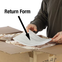 Include Return Form & Packing Slip