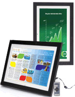 Digital Photo Frame Equipped for Wall-Mount or Tabletop Advertising