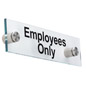 """Employees Only"" Standoff Sign, Wall Mounted"