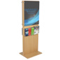 Double-Sided Poster Stand With 10 Brochure Holders for Sales Events