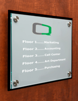 Corporate Door Signs with Stainless Steel Standoffs