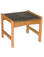 "Medium Oak Office End Table, 20"" Overall Depth"