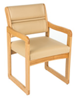 "Cream Waiting Area Chair, 33.5"" Width"