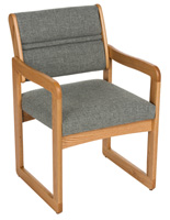 "Grey Office Waiting Room Chair, 20"" Seat Depth"