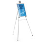 "Silver Easel Stand with 18"" x 24"" Snap Frame with Detachable Metal Clasp"
