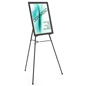 "Black Easel Stand with 22"" x 28"" Snap Frame with Protective Lens"