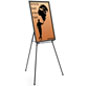 "Black Easel Stand with 24"" x 36"" Snap Frame, Floorstanding"