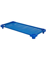 Stackable Children's Cot with Blue Finish Steel Frame