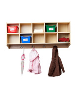 Children's Wall Hanging Coat Locker with Mounting Hardware