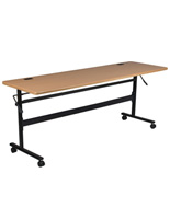 Teak Flipper Table, Rectangular Shaped