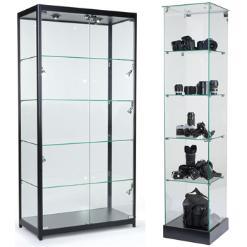 display cabinets for electronics stores