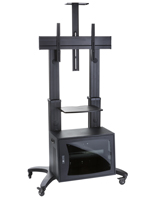 "Mobile TV Rack with Lockable Storage for 60""-70"" Screens"