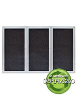Enclosed Rubber Corkboard