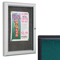 framed and enclosed fabric boards