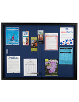 Blue Fabric Bulletin Board with Fabric Interior
