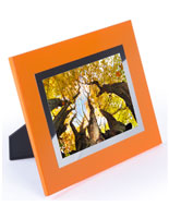 "Orange 5"" x 7"" Color Fancy Picture Frame"
