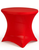 Cafe Table with Spandex Cover, Bright Red