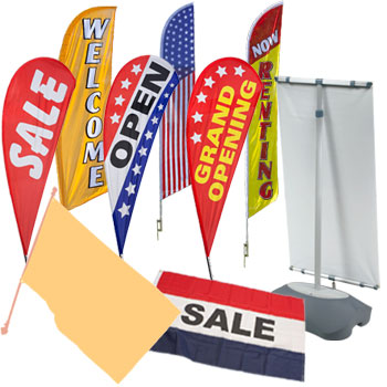 Stock Printed Flags