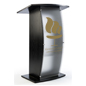 Black Lectern with Personalized Graphic Imprint