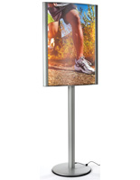 24 x 36 Curved LED Poster Stand with PVC Lenses