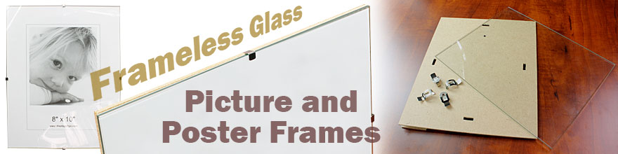 glass picture frames with no borders