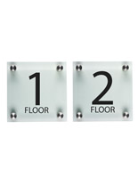 "Elevator Floor Number Signs, 1"" Depth"