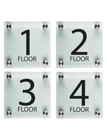 "Stairwell Floor Level Signs, 1"" Overall Depth"