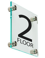 "Floor Level Sign, 6"" Overall Width"