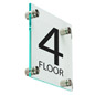Floor Level Building Sign, Acrylic