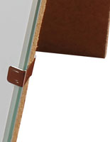 glass clip picture u0026 print frames frameless display framing for wall and counter use