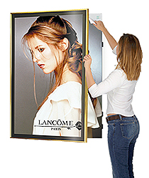 Swing Open Poster Frames Hinged Sign Holders For Business