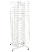 4-Sided White Gridwall Stand for Accessories