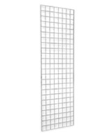 6' White Wire Grid Panel Displaying Products
