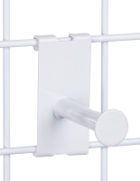 Durable White Gridwall Single Garment Display