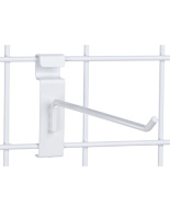 "8"" White Gridwall Hook, Fits Existing Panels"