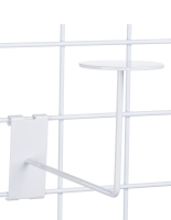 Durable White Gridwall Hat Rack