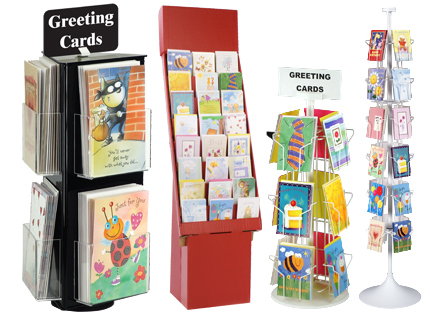racks and stands for greeting cards