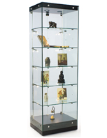 Frameless Glass Tower Cabinet