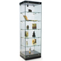 Tempered Glass Tower Cabinet