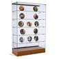 "Glass Curio Display Case, 19"" Overall Depth"