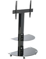 Glass and Metal TV Stand for Flat Screens
