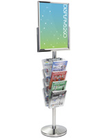 24 x 18 Floor Standing Sign with Magazine Holder, Tiered View