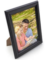 "Black 8.5"" x 11"" Frame with Studded Trim"