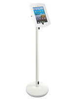 White iPad Floor Stand with Cable Management